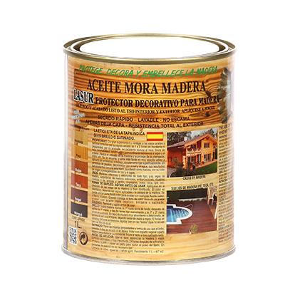 Imagen envase aceite mora madera
